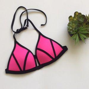 PINK Push Up Bikini Top